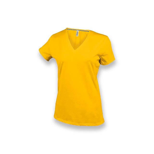 WOMY - dámské tričko, 180 g/m2, vel. XL, KARIBAN - žlutá