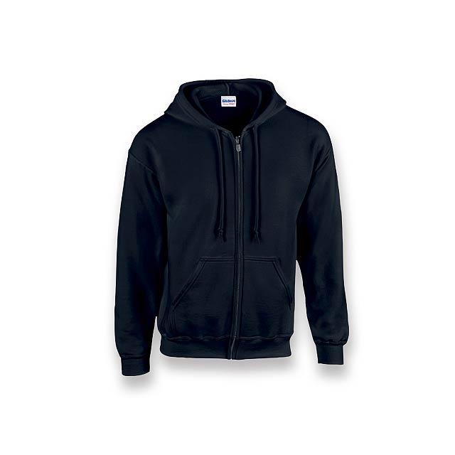 GILIS - mikina s kapucí, 280 g/m2, vel. S, GILDAN - černá