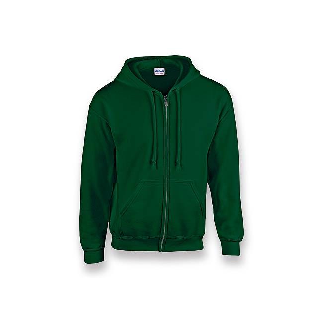 GILIS - mikina s kapucí, 280 g/m2, vel. M, GILDAN - zelená