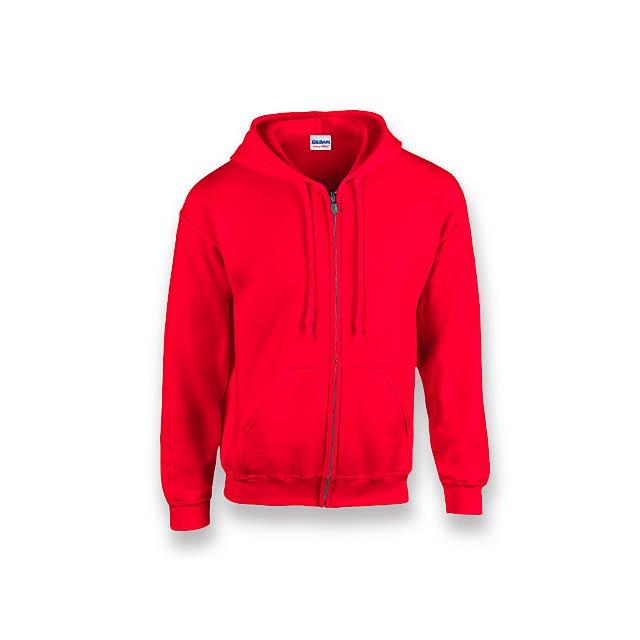 GILIS - mikina s kapucí, 280 g/m2, vel. XL, GILDAN - červená