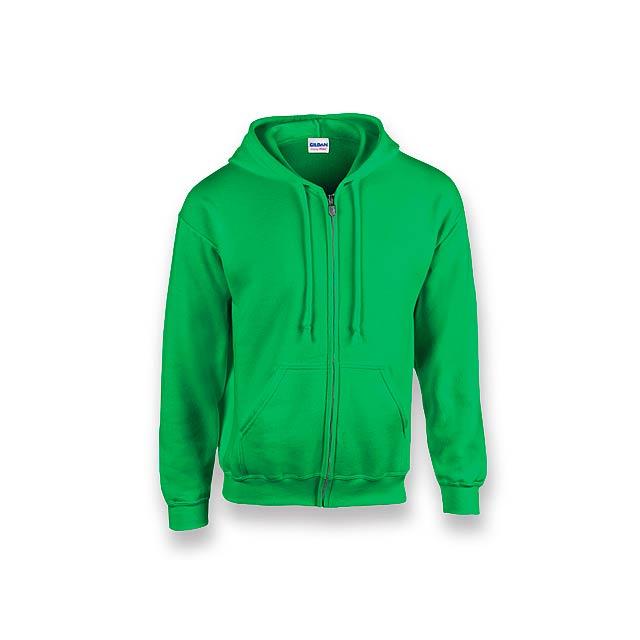 GILIS - mikina s kapucí, 280 g/m2, vel. XXL, GILDAN - zelená