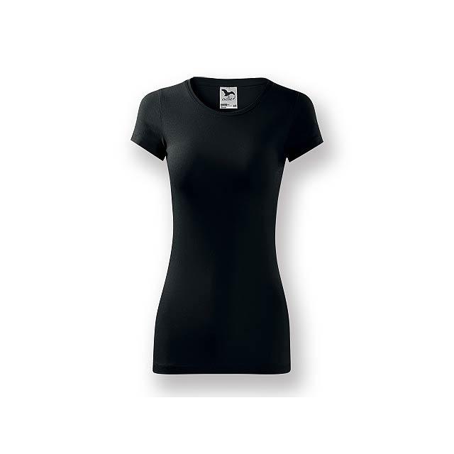 LORETANO - Dámské tričko s krátkým rukávem, projmutý střih,          - černá