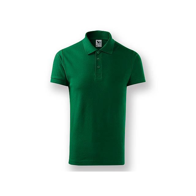 POLITO MEN - Pánská polokošile s krátkým rukávem, 100 % bavlna, piqué úplet, 170 g/m2.    - zelená