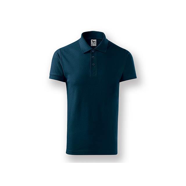 POLITO MEN - Pánská polokošile s krátkým rukávem, 100 % bavlna, piqué úplet, 170 g/m2.    - modrá