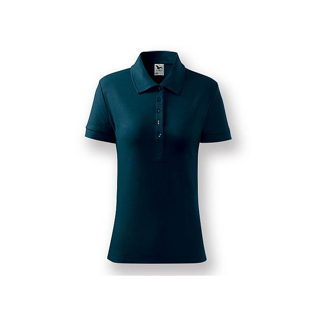 POLITO WOMEN - Dámská polokošile s krátkým rukávem, 100 % bavlna, piqué úplet, 170 g/m2.    - modrá
