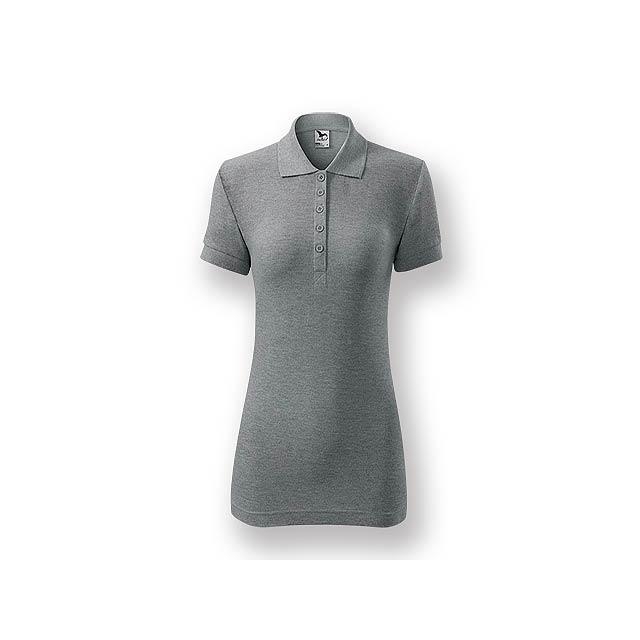 POLITO WOMEN - Dámská polokošile s krátkým rukávem, 100 % bavlna, piqué úplet, 170 g/m2.    - šedá