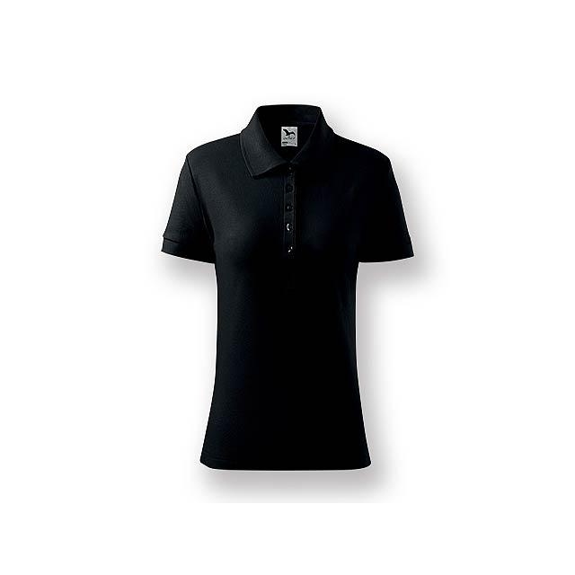 POLITO WOMEN - Dámská polokošile s krátkým rukávem, 100 % bavlna, piqué úplet, 170 g/m2.    - černá