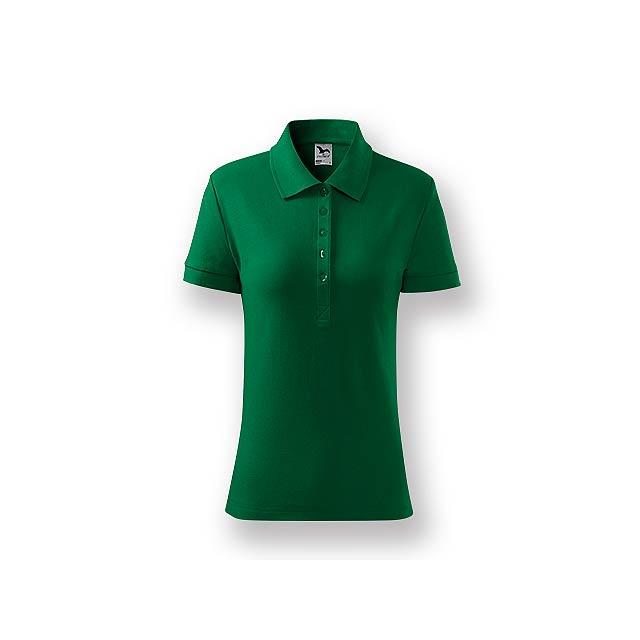 POLITO WOMEN - Dámská polokošile s krátkým rukávem, 100 % bavlna, piqué úplet, 170 g/m2.    - zelená