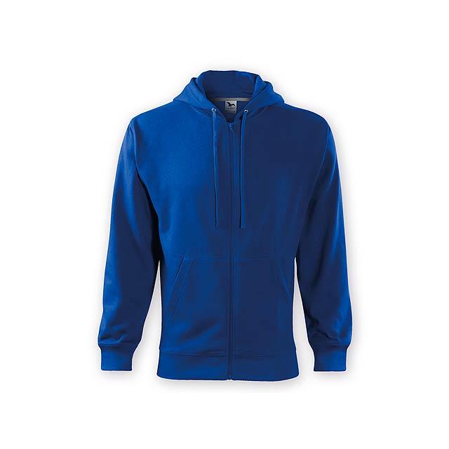 ZIPY MEN pánská mikina s kapucí, 300 g/m2, vel. S, ADLER, Královská modrá - modrá