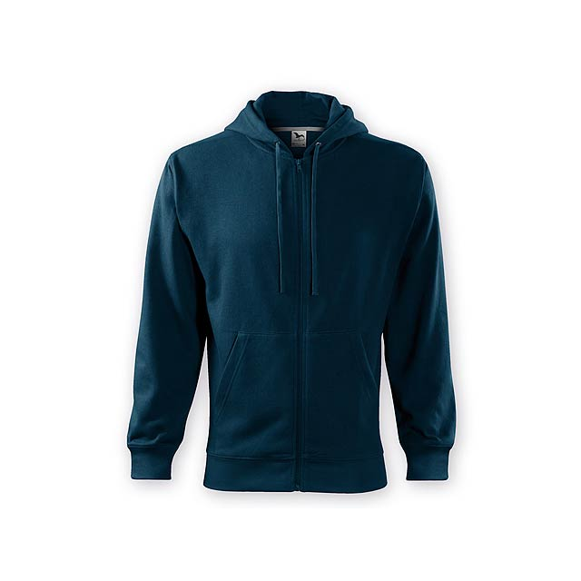 ZIPY MEN pánská mikina s kapucí, 300 g/m2, vel. S, ADLER, Noční modrá - modrá