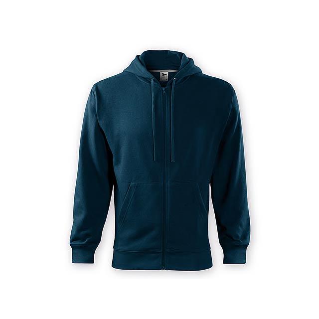 ZIPY MEN pánská mikina s kapucí, 300 g/m2, vel. L, ADLER, Noční modrá - modrá