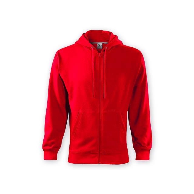 ZIPY MEN pánská mikina s kapucí, 300 g/m2, vel. XXL, ADLER, Červená - červená