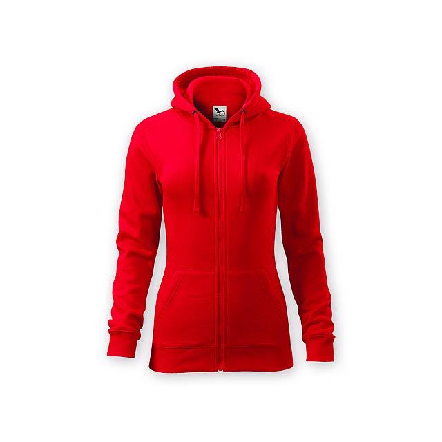 ZIPY WOMEN dámská mikina s kapucí, 300 g/m2, vel. XS, ADLER, Červená - červená