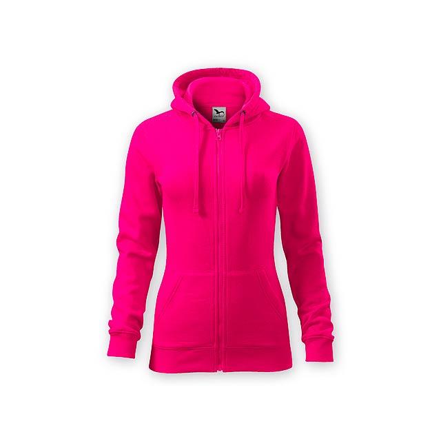 ZIPY WOMEN dámská mikina s kapucí, 300 g/m2, vel. XS, ADLER, Růžová - růžová