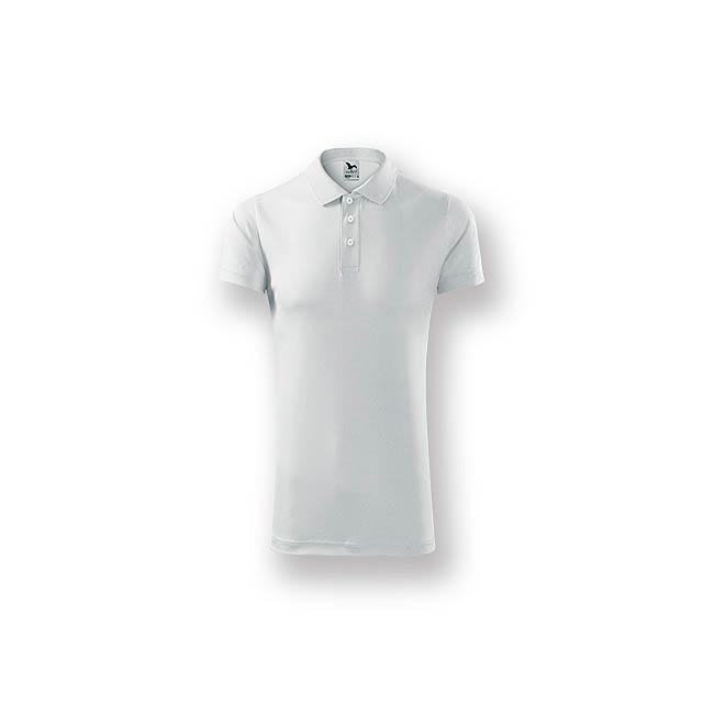 LUSTYG - Unisex polokošile s krátkým rukávem vhodná pro sport i každodenní nošení.      - bílá