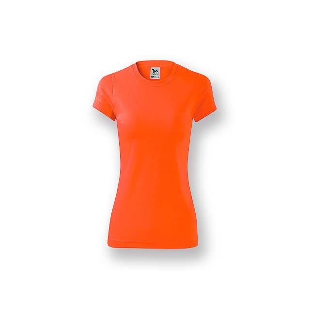 NEONY LADY - Dámské tričko s krátkým rukávem.           - oranžová