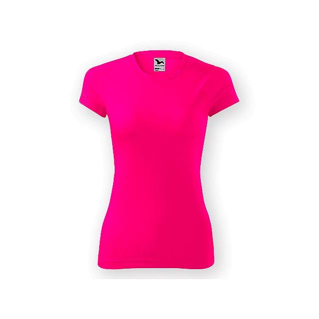 NEONY LADY dámské tričko, 150 g/m2, vel. M, ADLER, Fluorescenční růžová - růžová
