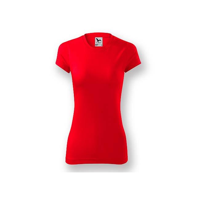 NEONY LADY - Dámské tričko s krátkým rukávem.           - červená