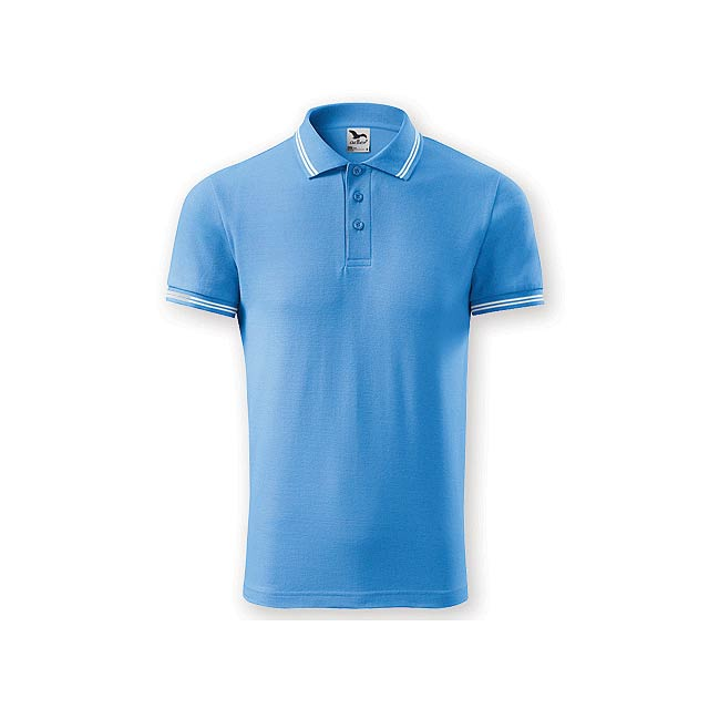 URBAN MEN pánská polokošile,  200 g/m2, vel. XL, ADLER, Světle modrá - modrá