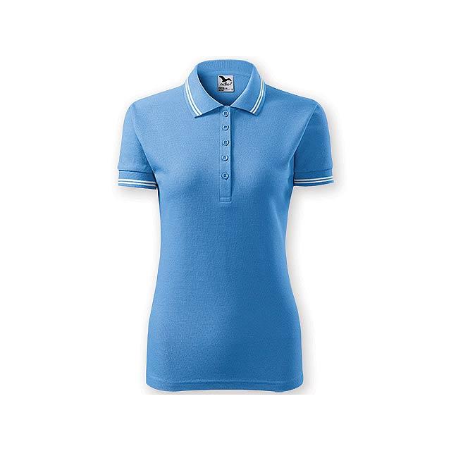 URBAN WOMEN dámská polokošile,  200 g/m2, vel. L, ADLER, Světle modrá - modrá