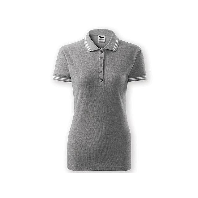 URBAN WOMEN dámská polokošile,  200 g/m2, vel. XXL, ADLER, Šedý melír - šedá