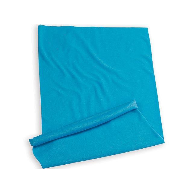 MULTISCARF multifunkční šátek, MYRTLE BEACH, Nebesky modrá - modrá