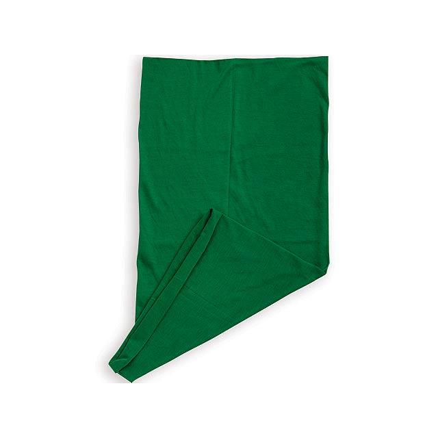 MULTISCARF multifunkční šátek, MYRTLE BEACH, Lahvově zelená - zelená