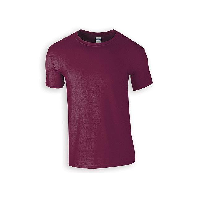 ZIKI MEN pánské tričko, 153 g/m2, vel. S, GILDAN, Bordó - červená