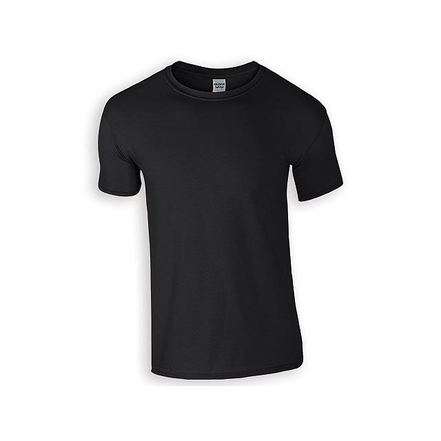 ZIKI MEN pánské tričko, 153 g/m2, vel. S, GILDAN, Černá - černá