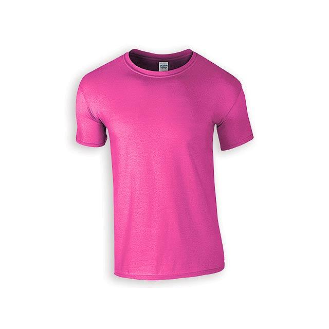 ZIKI MEN pánské tričko, 153 g/m2, vel. M, GILDAN, Růžová - růžová