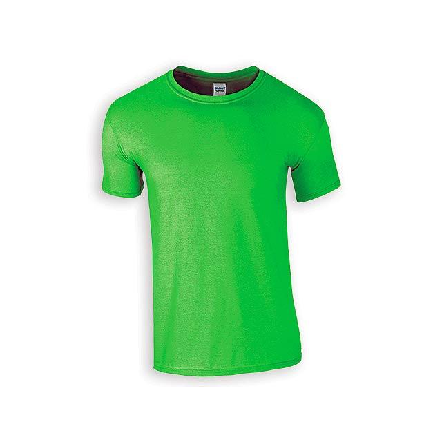 ZIKI MEN pánské tričko, 153 g/m2, vel. L, GILDAN, Světle zelená - zelená