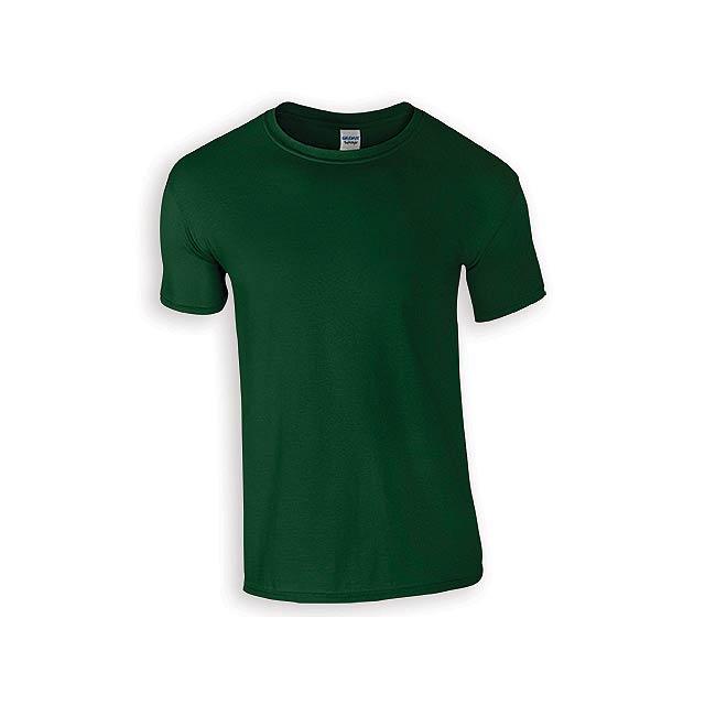 ZIKI MEN pánské tričko, 153 g/m2, vel. L, GILDAN, Lahvově zelená - zelená