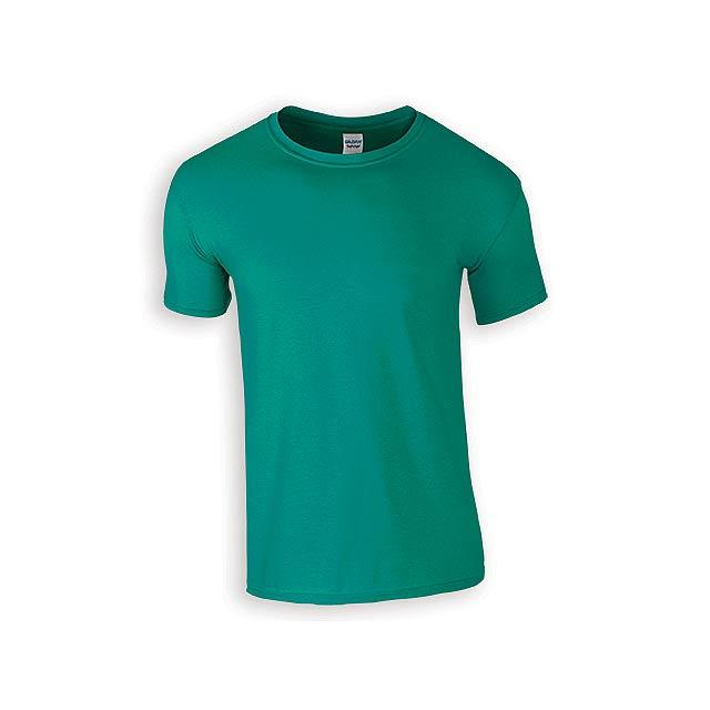 ZIKI MEN pánské tričko, 153 g/m2, vel. L, GILDAN, Tyrkysově zelená - zelená