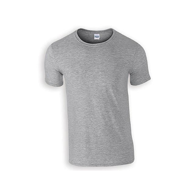 ZIKI MEN pánské tričko, 153 g/m2, vel. XL, GILDAN, Šedá - šedá