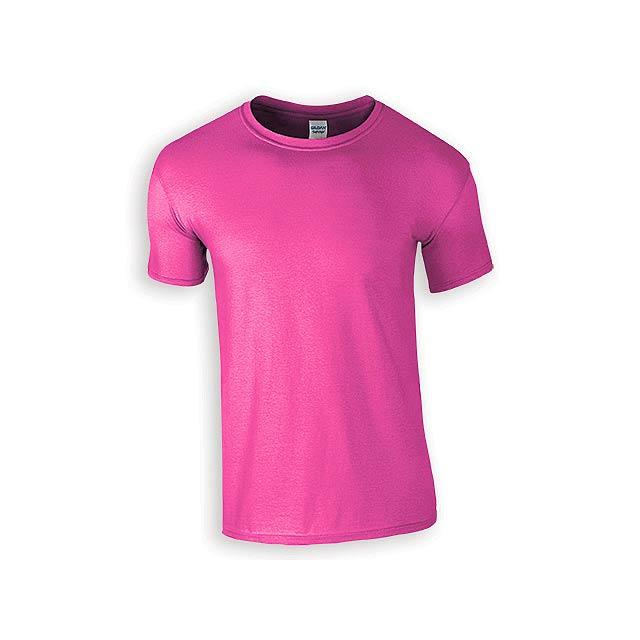 ZIKI MEN pánské tričko, 153 g/m2, vel. XL, GILDAN, Růžová - růžová
