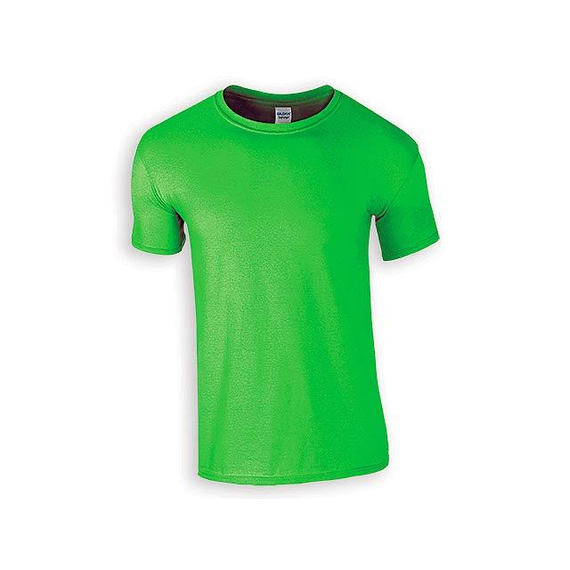ZIKI MEN pánské tričko, 153 g/m2, vel. XL, GILDAN, Světle zelená - zelená