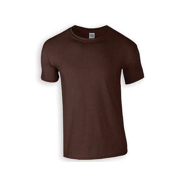 ZIKI MEN pánské tričko, 153 g/m2, vel. XL, GILDAN, Tmavě hnědá - hnědá
