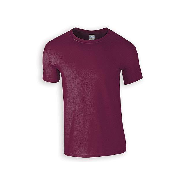 ZIKI MEN pánské tričko, 153 g/m2, vel. 3XL, GILDAN, Bordó - červená