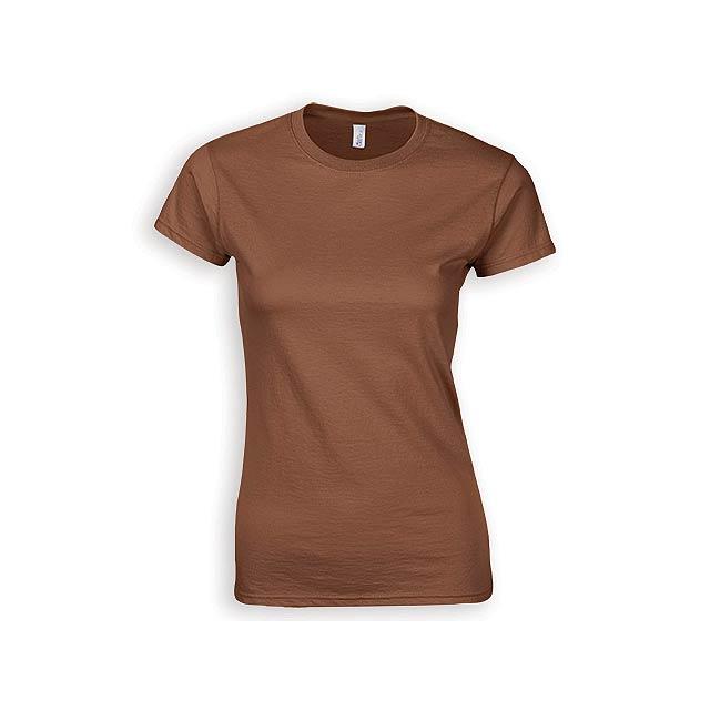 ZIKI WOMEN dámské tričko, 153 g/m2, vel. S, GILDAN, Hnědá - hnědá