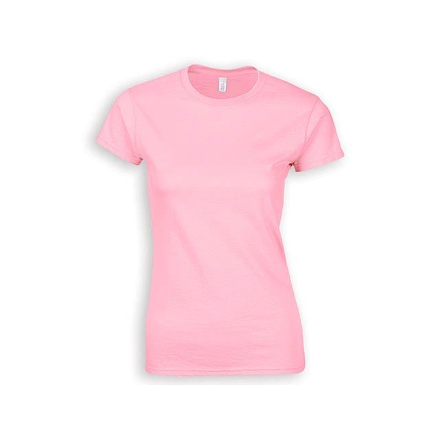 ZIKI WOMEN dámské tričko, 153 g/m2, vel. S, GILDAN, Světle růžová - růžová
