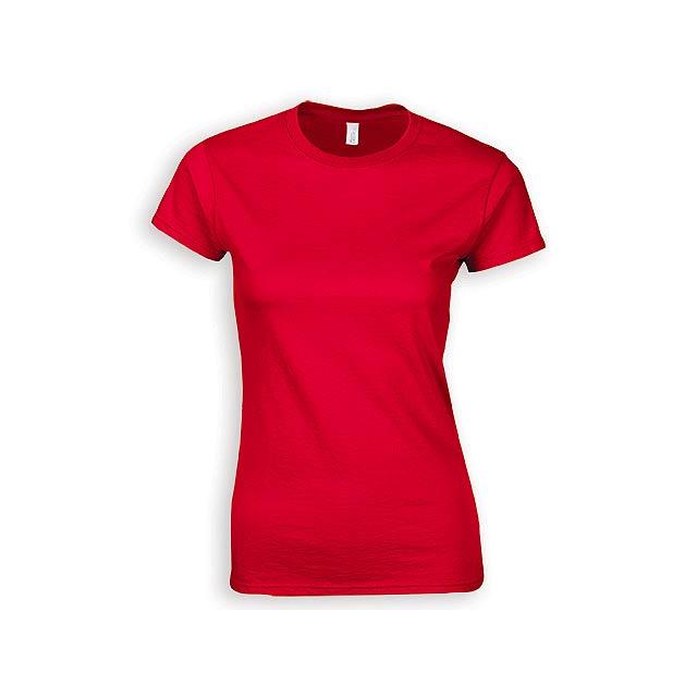 ZIKI WOMEN dámské tričko, 153 g/m2, vel. L, GILDAN, Červená - červená