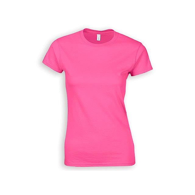 ZIKI WOMEN dámské tričko, 153 g/m2, vel. XL, GILDAN, Růžová - růžová