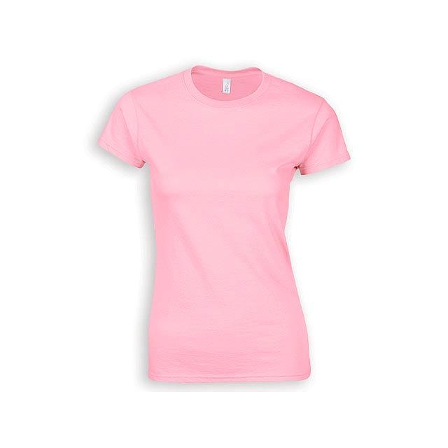 ZIKI WOMEN dámské tričko, 153 g/m2, vel. XL, GILDAN, Světle růžová - růžová