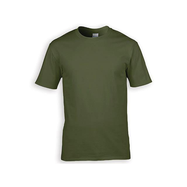 GILDREN PREMIUM unisex tričko, 185 g/m2, vel. S, GILDAN, Khaki - zelená