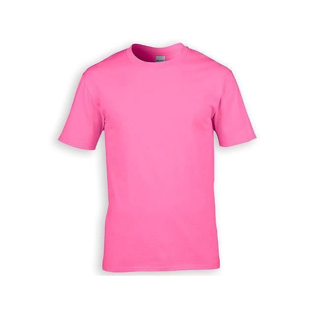 GILDREN PREMIUM unisex tričko, 185 g/m2, vel. S, GILDAN, Světle růžová - růžová