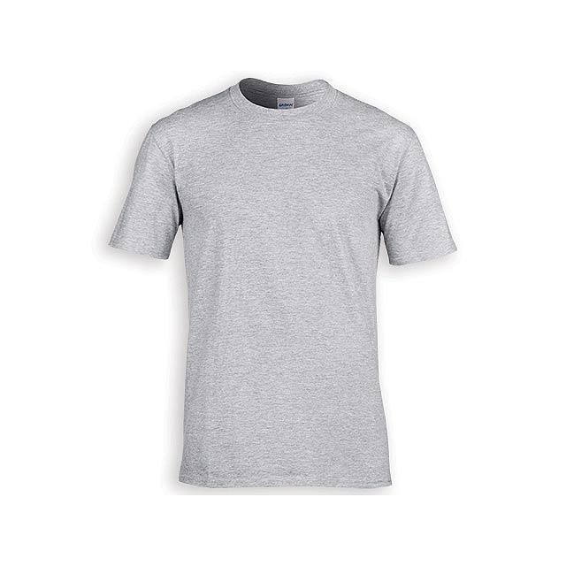 GILDREN PREMIUM unisex tričko, 185 g/m2, vel. M, GILDAN, Šedá - šedá