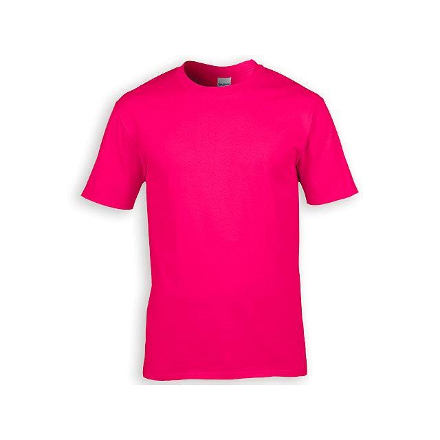 GILDREN PREMIUM unisex tričko, 185 g/m2, vel. L, GILDAN, Růžová - růžová