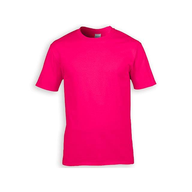 GILDREN PREMIUM unisex tričko, 185 g/m2, vel. XL, GILDAN, Růžová - růžová