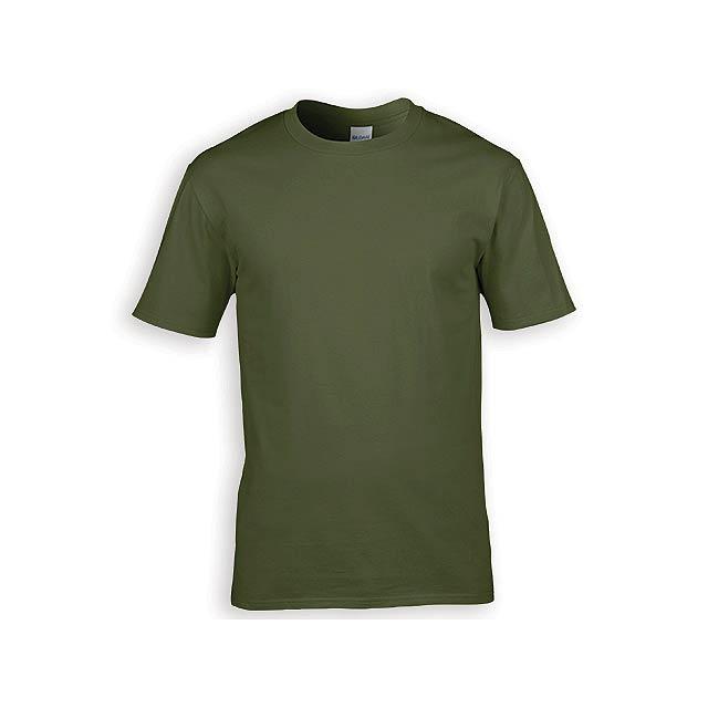 GILDREN PREMIUM unisex tričko, 185 g/m2, vel. XXL, GILDAN, Khaki - zelená