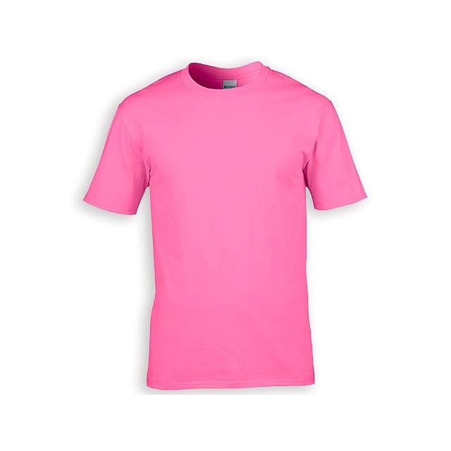 GILDREN PREMIUM unisex tričko, 185 g/m2, vel. XXL, GILDAN, Světle růžová - růžová